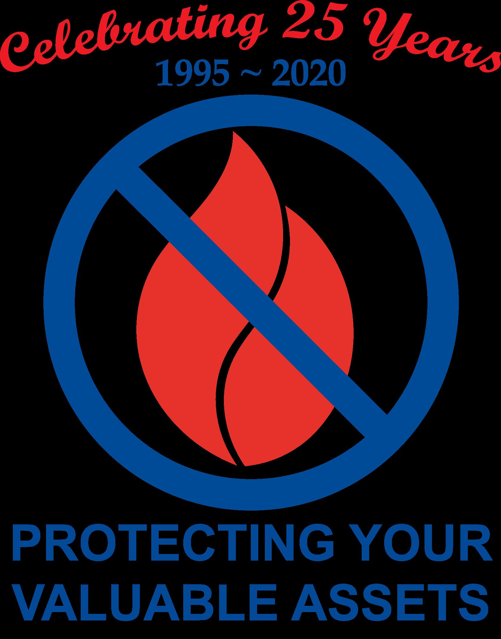 FlameSafe Logo anniversary 25 years